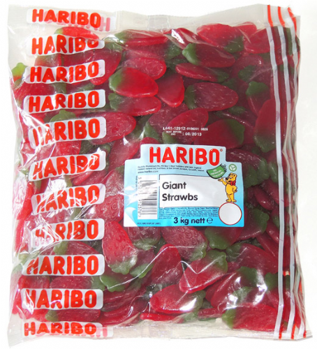 Q73  HARIBO GIANT STRAWBERRY 3kg